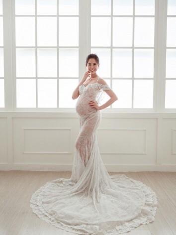 孕婦禮服,孕婦寫真,白紗,婚紗,懷孕