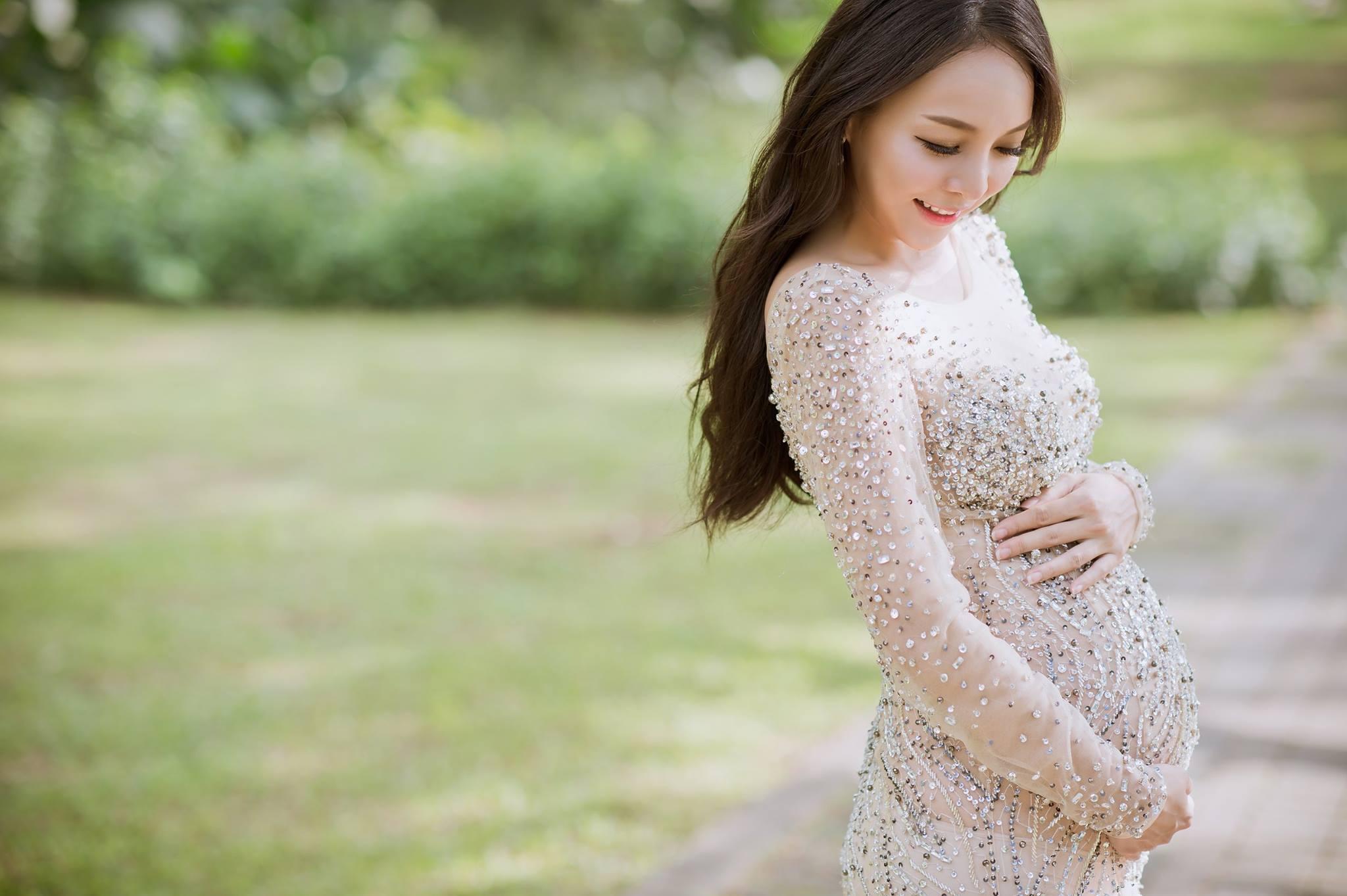 裸紗,孕媽咪,孕婦寫真,禮服,懷孕