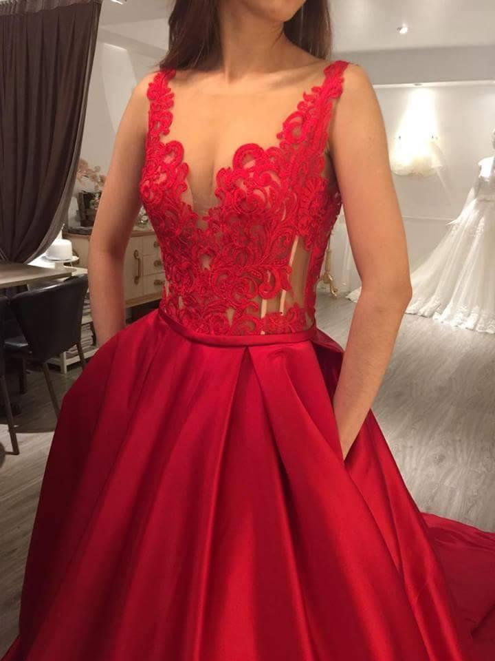 禮服,紅色禮服,婚紗,台北婚紗,自助婚紗
